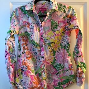 Lilly for Target button down top